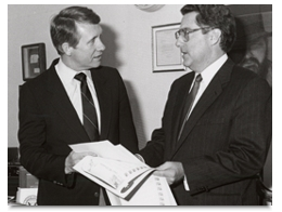 December 17, 1986 highlights Senator-Elect Harry Reid, left, showing Department of Energy Secretary John Herrington